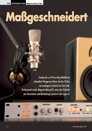 Professional Audio Maßgeschneidert Dangerous Music D-Box