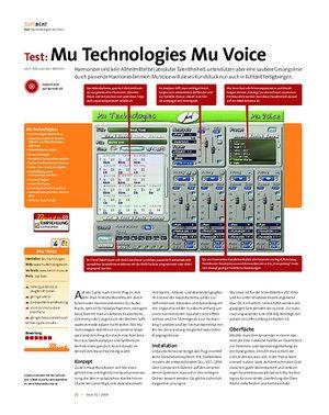 Beat Test: Mu Technologies Mu Voice