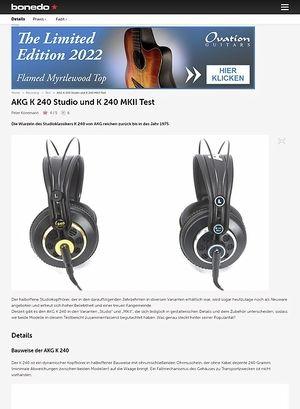 Bonedo.de AKG K 240 Studio und K 240 MKII