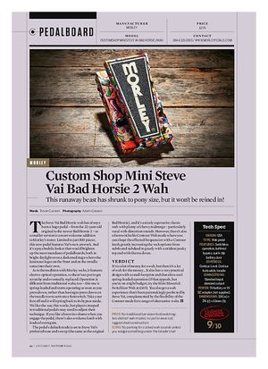 Guitarist Custom Shop Mini Steve Vai Bad Horsie 2 Wah