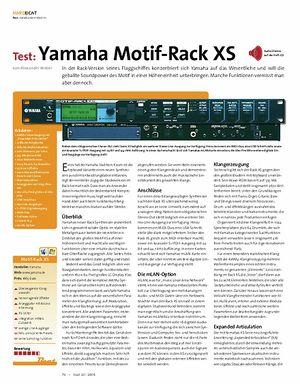 Beat Test: Yamaha Motif-Rack XS