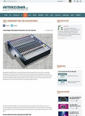 Amazona.de Test: Soundcraft GB2R 16 Kanal Mischpult