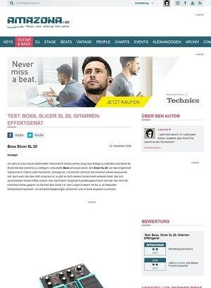 Amazona.de Test: Boss, Slicer SL 20, Gitarren-Effektgerät