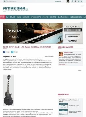 Amazona.de Test: Epiphone, Les Paul Custom, E-Gitarre