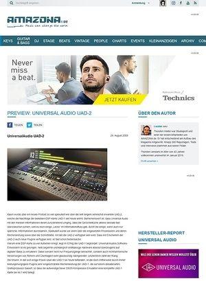 Amazona.de Preview: Universal Audio UAD-2