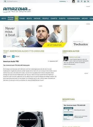 Amazona.de Test: American Audio TTD-2400/USB