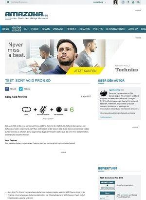 Amazona.de Test: Sony Acid Pro 6.0d