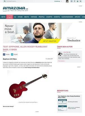 Amazona.de Test: Epiphone, Allen Woody Rumblekat Bass, E-Bass