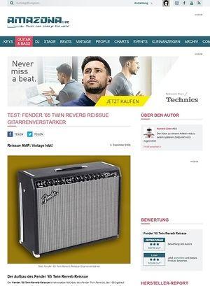 Amazona.de Test: Fender '65 Twin Reverb Reissue, Verstärker für E-Gitarre