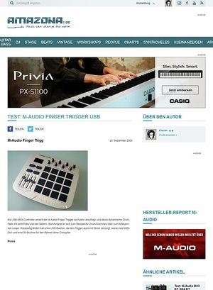 Amazona.de Test: M-Audio Finger Trigger USB