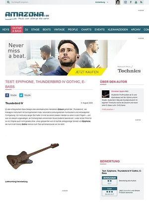 Amazona.de Test: Epiphone, Thunderbird IV Gothic, E-Bass