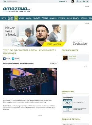 Amazona.de Test: ECLER COMPACT 5