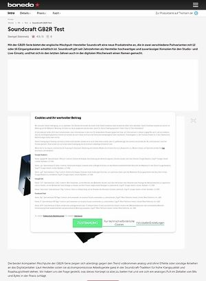 Bonedo.de Soundcraft GB2R