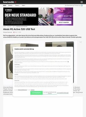 Bonedo.de Alesis M1 Active 320 USB