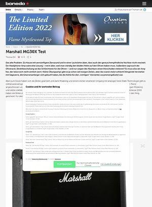 Bonedo.de Marshall MG30FX