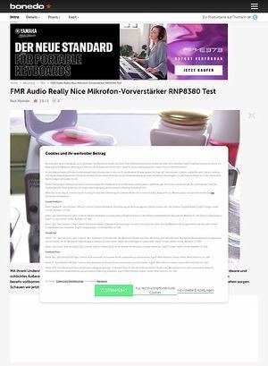 Bonedo.de FMR Audio Really Nice Preamp RNP 8380