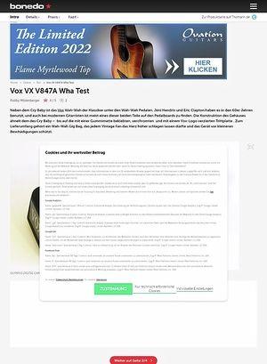 Bonedo.de Vox VX V847A Wha