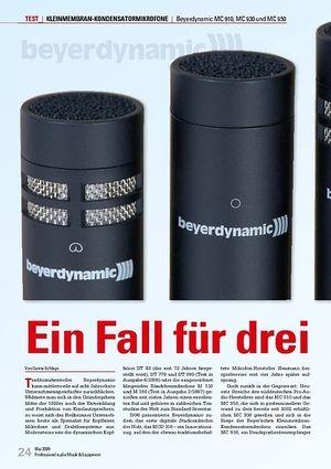 Professional Audio Ein Fall für drei: Beyerdynamic MC 910, MC 930 und MC 950