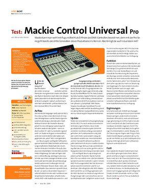 Beat Test: Mackie Control Universal Pro