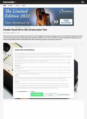 Bonedo.de Fender Road Worn 50s Stratocaster