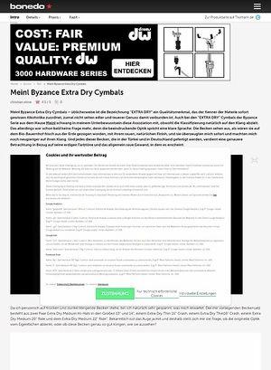 Bonedo.de MEINL BYZANCE EXTRA DRY