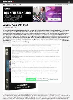 Bonedo.de Universal Audio UAD-2