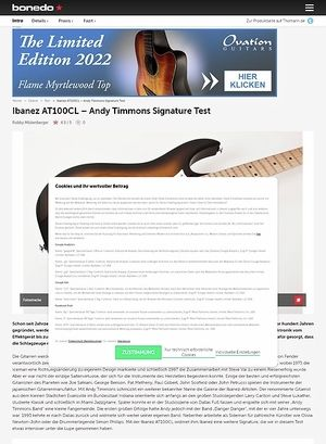 Bonedo.de Ibanez AT100CL - Andy Timmons Signature Modell