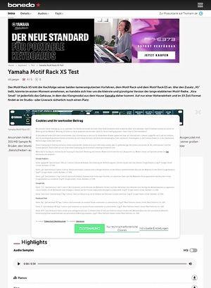 Bonedo.de Yamaha Motif Rack XS