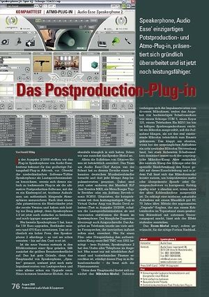 Professional Audio Das Postproduction-Plug-in: Audio Ease Speakerphone 2