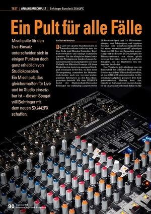 Professional Audio Ein Pult für alle Fälle Eurodesk SX442FX