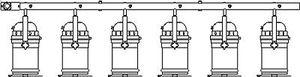 6-lamp bar