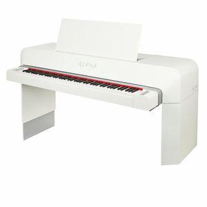 Studio Piano white polished Alpha