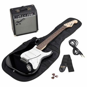 SQ Strat Pack SSS BLK GB Fender