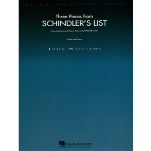 Three Pieces Schindler's List Wise Publications