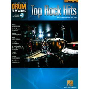 Drum Play-Along Top Rock Hits Hal Leonard