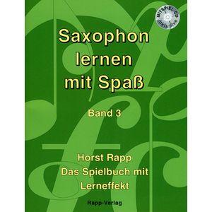 Saxophon Lernen mit Spaß 3 Horst Rapp Verlag