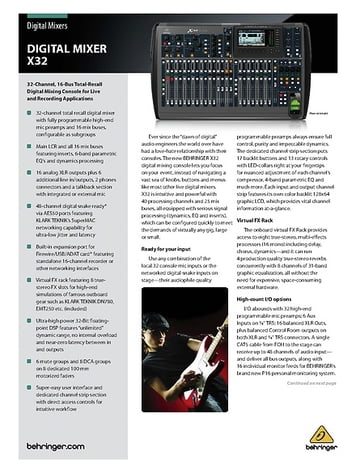 Behringer X32 – Thomann UK