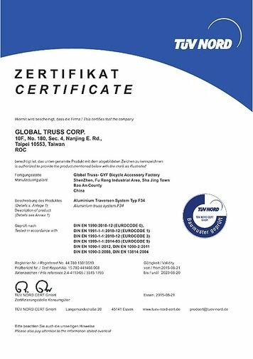 TÜV Zertifikat / Certificate