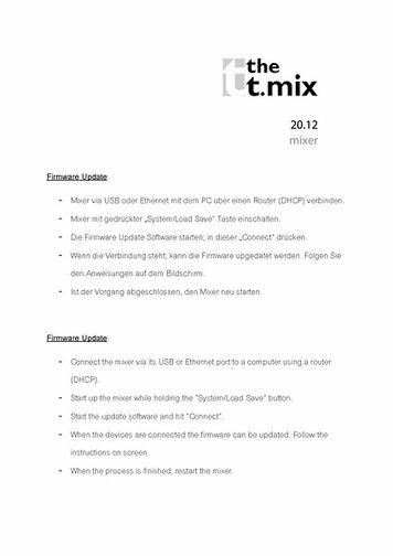 Firmware Update Instructions