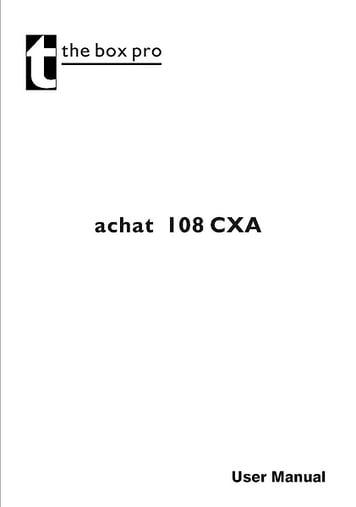 Manual: Achat 108 CX