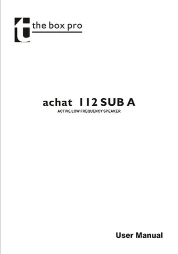 Manual: Achat 112 Sub