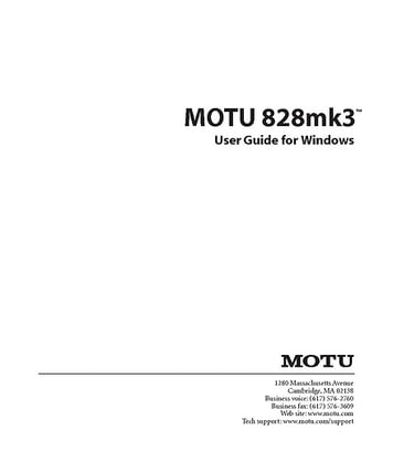 MOTU 828 Mk III Hybrid – Thomann Ireland