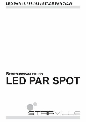 Bedienungsanleitung LED PAR