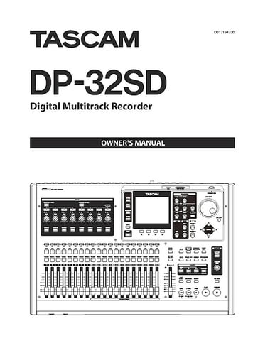 Tascam DP-32 SD – Thomann UK
