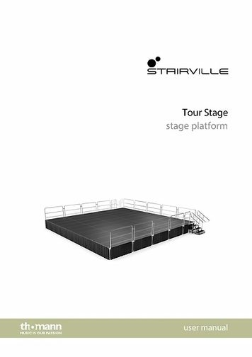 User manual: tour stage