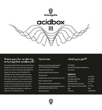 Erica Synths Acidbox III – Thomann UK