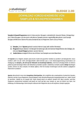 Download Vorgehensweise von Samples und Soundprogrammen