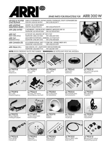 Ersatzteile ARRI 300
