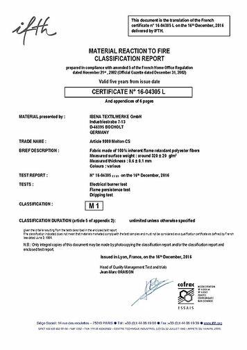 M1 Fire Resistance Certificate Engl.
