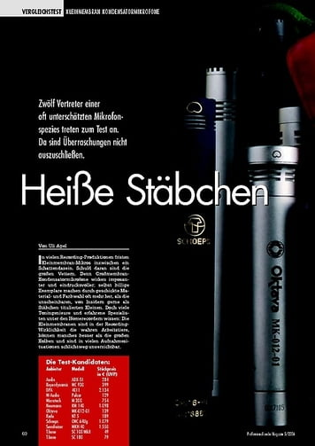 Test: Kleinmembranmikrofone (Professional audio Magazin 05/2006)